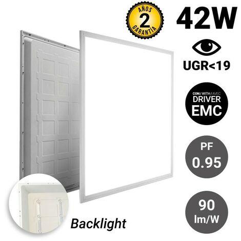 Panneau LED 60x60 40W encastrable rétroéclairé   Blanc Neutre