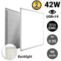 Panneau LED 60x60 40W encastrable rétroéclairé | Blanc Neutre