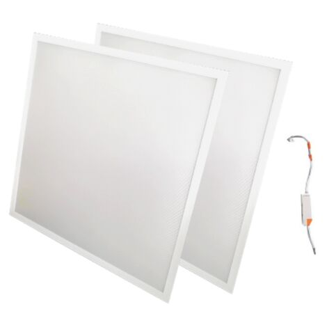 Panneau LED 60x60 48W BLANC (Pack de 2) - Blanc Froid 6000K - 8000K