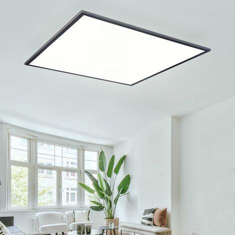 Panneau LED 60x60 plafonnier blanc chaud Plafonnier carré de bureau Plafonnier LED plat, 40 watts 2700 lumens 3000K