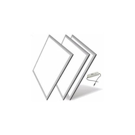 Panneau LED 60x60 Slim 48W ALUMINIUM (Pack de 3) - Blanc Neutre 4000K - 5500K