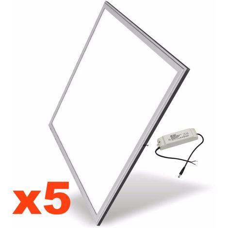 Panneau LED 60x60 Slim 48W ALUMINIUM (Pack de 6)