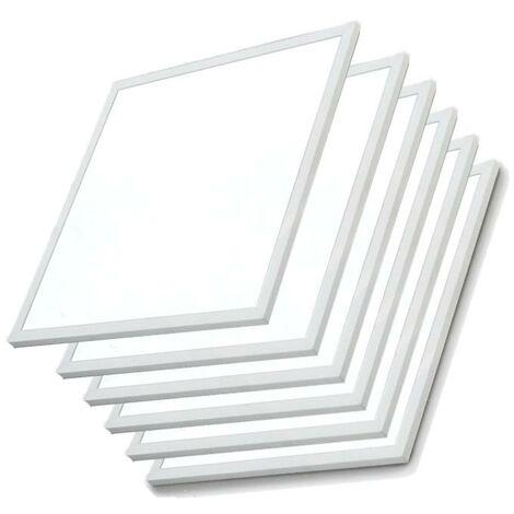 Panneau LED 60x60 Slim 48W BLANC (Pack de 6) - Blanc Froid 6000K - 8000K