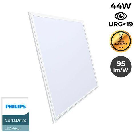 Panneau LED 60x60cm 44W encastrable ultra plat 3300lm UGR19