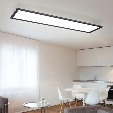Panneau LED 80x20 plafonnier blanc chaud Plafonnier carré de bureau Plafonnier LED plat, 40 watts 2700 lumen 3000K