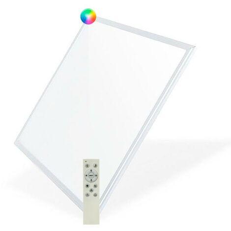 Panneau LED CCT + RGB 60X60 cm 40W Cadre Blanc avec Télécommande RGB | IluminaShop