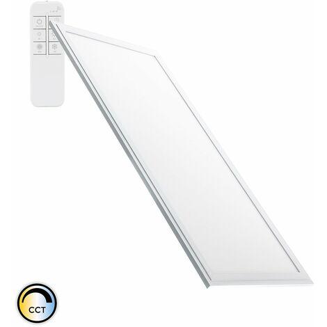 Panneau LED Dimmable CCT Sélectionnable 120x60cm 60W 5400lm Cadre Argenté Sélectionnable (Chaud-Neutre-Froid) - Sélectionnable (Chaud-Neutre-Froid)