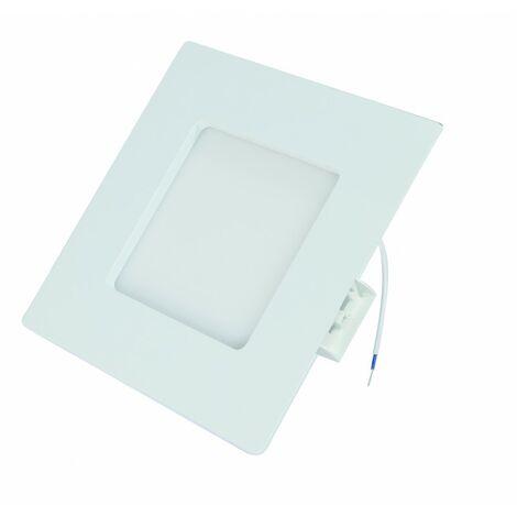 Panneau led encastrable et saillie carre alu et plastique 9W dimension 120X120X32 Mm 50-60 lumens / W