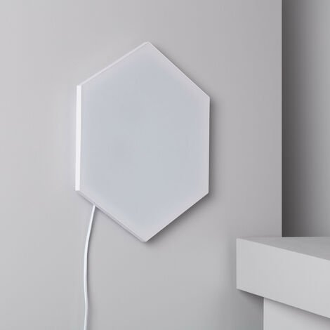 Panneau LED Hexagonal 18x18cm 10W Base Principale Blanc Neutre 4000K - 4500K - Blanc Neutre 4000K - 4500K