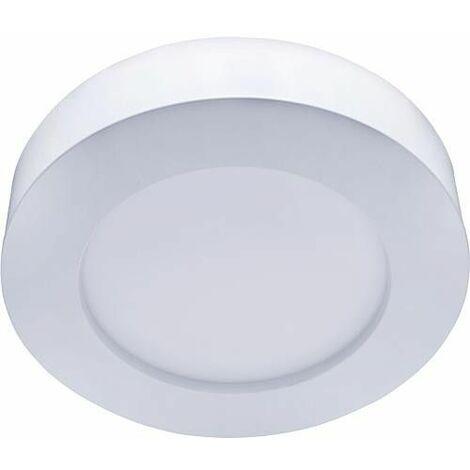 Panneau LED montage en saillie et encastré, All in One, ronde, 18W 1350LM, WW, diam:227mm, variable
