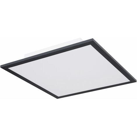 Panneau LED plafonnier structure panneau de plafond étude Plafonnier LED plat, grille aluminium carré noir, 18 watts 1200 lumens blanc chaud, L 30 cm