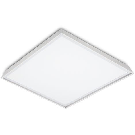 Panneau LED Slim 60x60cm 48W 4800lm +Trousse de montage en surface | Blanc froid (HO-KITPAN60X60-48W-CW)