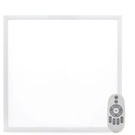 Panneau LED Ultrafin 60x60Cm Cadre Blanc Télécommande (Intensité-Cct) 36W 2380Lm 30.000H (HO-PANMB59559536W-RC)