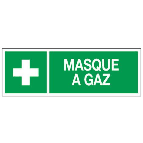 Panneau Masque à gaz avec logo - Rigide 330x120mm - 4140704