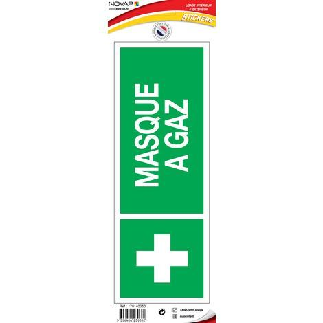 Panneau Masque à gaz avec logo - Vinyle adhésif 330x120mm - 4230382