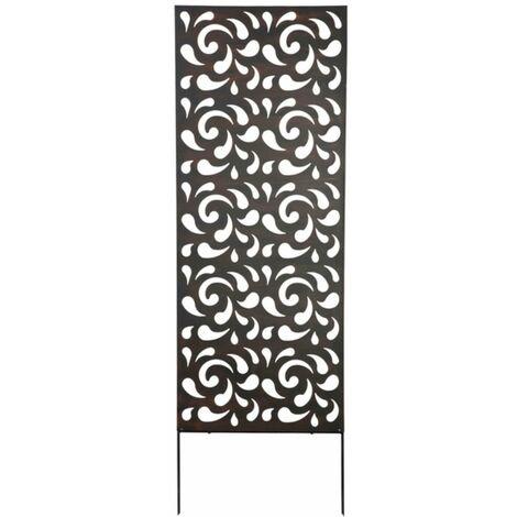 Panneau métal avec motifs décoratifs/Gouttes - 0,60 x 1,50 m - Brun
