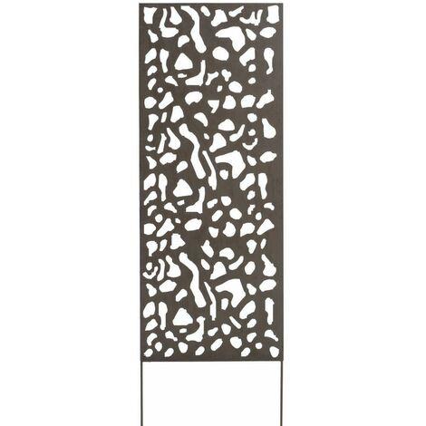 Panneau métal avec motifs décoratifs/Tâches - 0,60 x 1,50 m - Brun vieilli