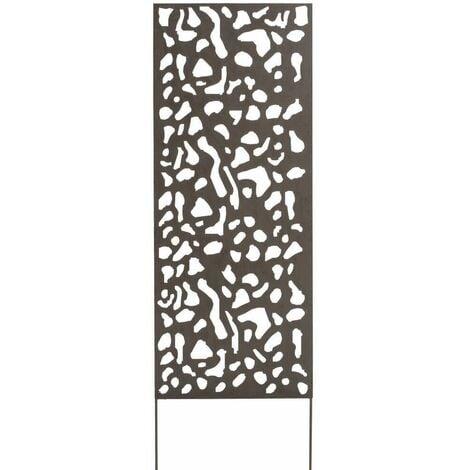 "main image of ""Panneau métal avec motifs décoratifs/Tâches - 0,60 x 1,50 m - Brun vieilli"""