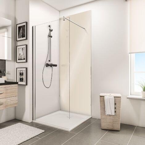 Panneau mural 100 x 210 cm, revêtement pour douche et salle de bains, DécoDesign BRIO, Schulte, Beige brillant