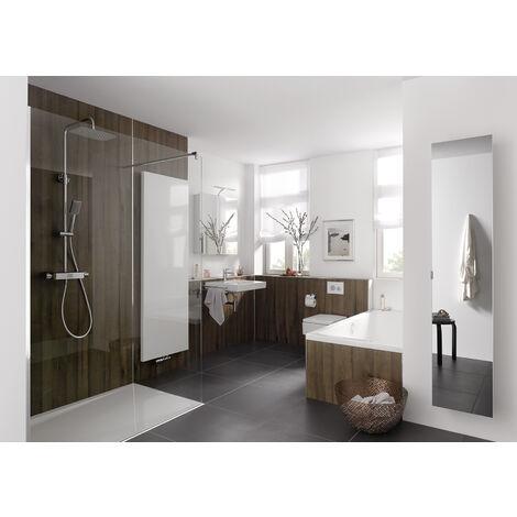 Panneau mural 100 x 255 cm, revêtement pour douche et salle de bains, DécoDesign DÉCOR, Schulte, Bois chêne