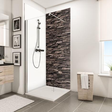 """main image of """"Panneau mural 100 x 255 cm, revêtement pour douche et salle de bains, DécoDesign DÉCOR, Schulte, Bois chêne"""""""