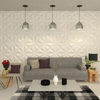 Panneau mural 3D 24 pcs 0,5 x 0,5 m 6m²