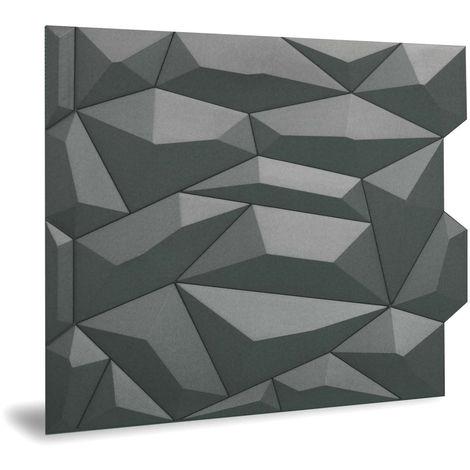 Panneau mural 3D Profhome 3D 705475 Glacier Smoked Gray Panneau décoratif lisse avec un dessin abstrait mate gris 2 m2