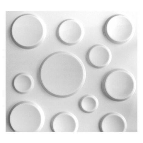Panneau mural 3D WallArt Craters 3m2 - Blanc pur