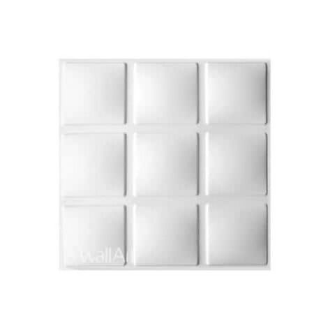 Panneau mural 3D WallArt Cubes 3m2 - Blanc pur