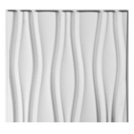 Panneau mural 3D WallArt Flows 3m2 - Blanc pur