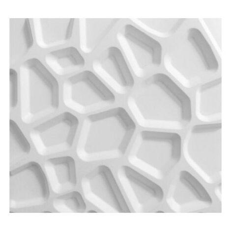 Panneau mural 3D WallArt Gaps 3m2 - Blanc pur