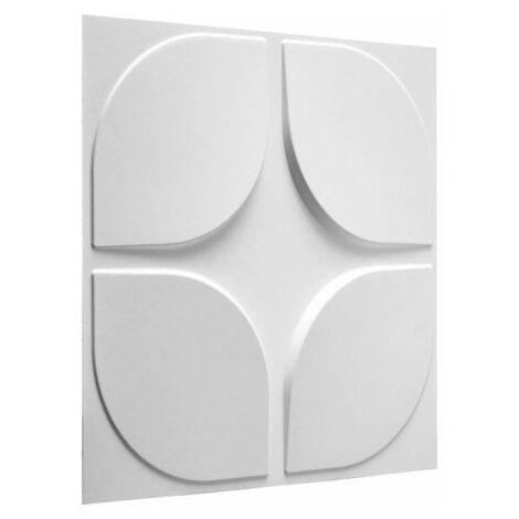 Panneau mural 3D WallArt Sweeps 3m2 - Blanc pur