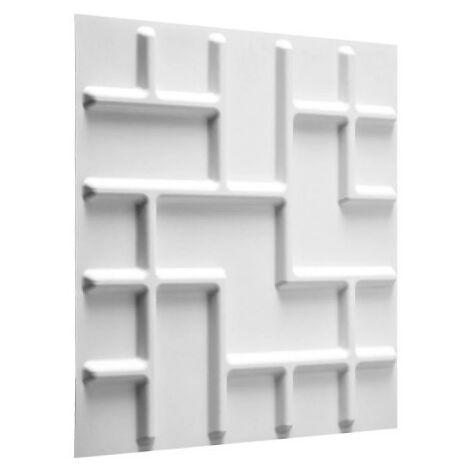 Panneau mural 3D WallArt Tetris 3m2 - Blanc pur