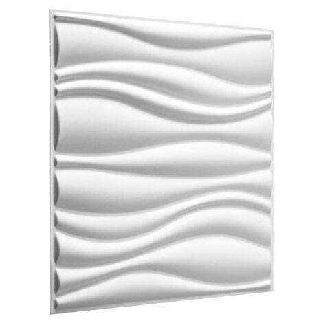 Panneau mural 3D WallArt Waves 3m2 - Blanc