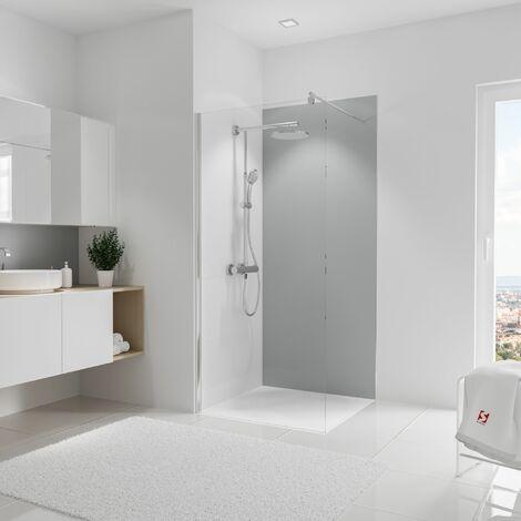 Panneau mural 90 x 210 cm, revêtement pour douche et salle de bains, DécoDesign COULEUR, Schulte, Blanc