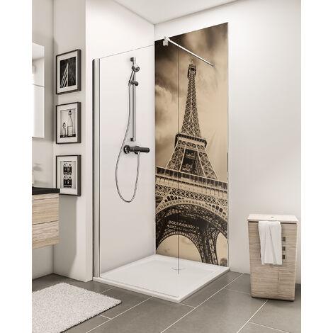 Panneau mural 90 x 210 cm, revêtement pour douche et salle de bains, DécoDesign PHOTO, Schulte, Blanc à combiner