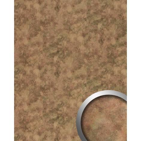 Panneau mural aspect métal WallFace 20191 OXIDIZED Autumn AR lisse Revêtement mural design vintage brillant auto-adhésif résistant à l'abrasion brun gris-brun 2,6 m2