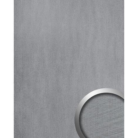 Panneau mural aspect métal WallFace 20193 METALLIC USED Silver AR lisse Revêtement mural used look brillant auto-adhésif résistant à l'abrasion argent gris-clair 2,6 m2