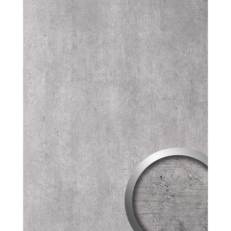 Panneau mural aspect pierre WallFace 19563 Antigrav CEMENT Light Panneau décoratif texturé d'aspect béton mate autoadhesivo gris gris-clair 2,6 m2