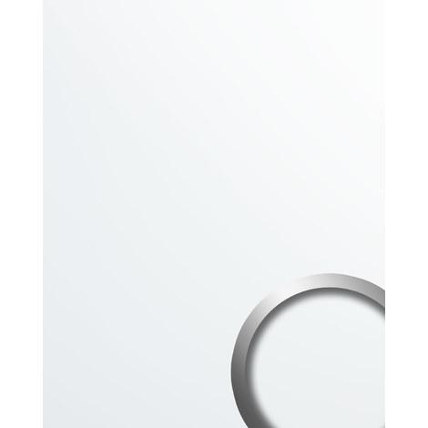 Panneau mural aspect plastique WallFace 19521 Magic White lisse Panneau décoratif unicolore mate auto-adhésif résistant à l'abrasion blanc 2,6 m2