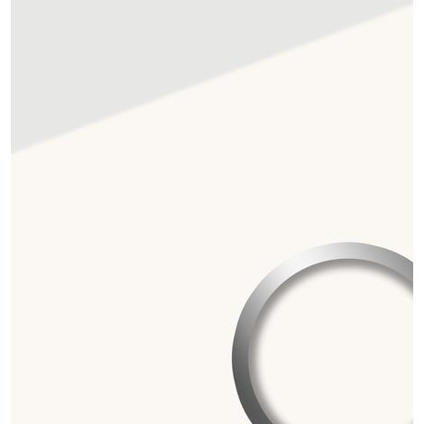 Panneau mural aspect verre WallFace 17941 UNI ICE WHITE revêtement mural autoadhésif blanc 2.60 m2