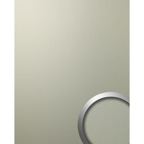 Panneau mural autoadhésif aspect métal mat-brillant Revêtement mural gris clair WallFace 12439 DECO CHAMPAGNE 2,60 m2