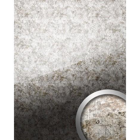 Panneau mural autoadhésif aspect verre Revêtement mural verre acrylique résistant à l'abrasion argenté gris WallFace 17199 VINTAGE 2,60 m2