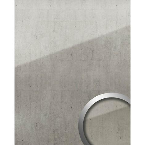 Panneau mural autoadhésif Aspect verre WallFace 18001 Style vintage Revêtement mural verre acrylique résistant à l'abrasion gris platine argent | 2,60 m2