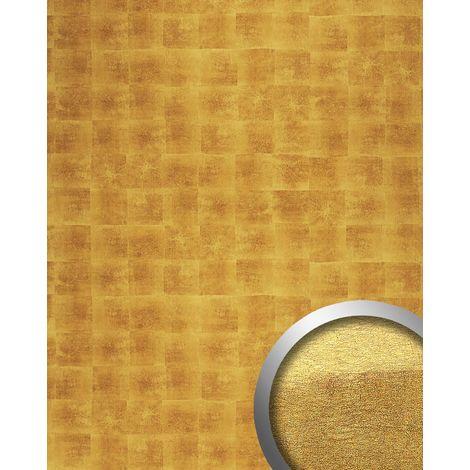 Panneau mural autoadhésif PET Aspect métal WallFace 21392 DECO LUXURY Revêtement mural aspect doré 2,60 m2