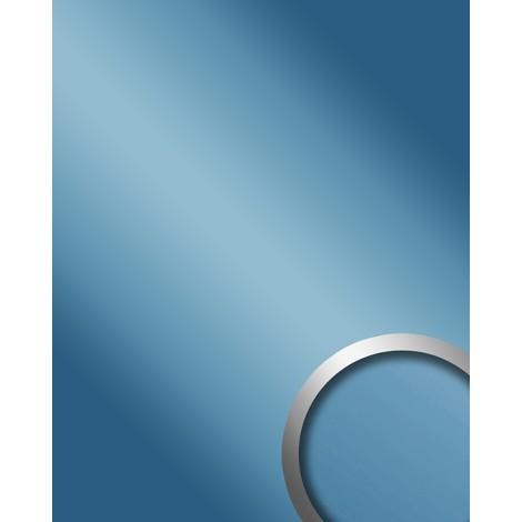 Panneau mural autoadhésif WallFace 10210 DECO ICEBLUE Dessin de miroir Aspect brillant Plaque murale bleu 2,60 m2