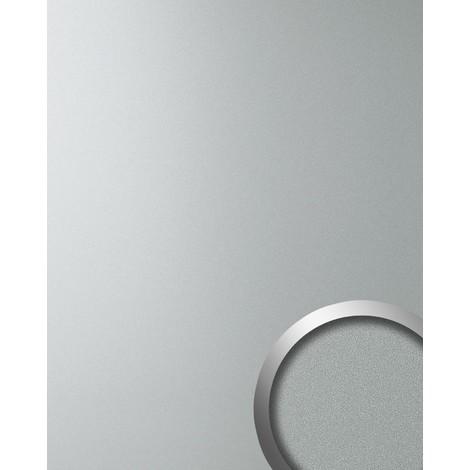 Panneau mural autoadhésif WallFace 10363 DECO SILVER Aspect métal mat-brillant Plaque argenté gris 2,60 m2