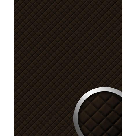 Panneau mural autoadhésif WallFace 15036 ROMBO Revêtement mural de luxe dessin cuire motif à carreaux brun 2,60 m2
