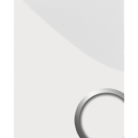 Panneau mural autoadhésif WallFace 15422 DECO MAGIC résistant à l'abrasion légèrement brillant blancde perle 2,60 m2