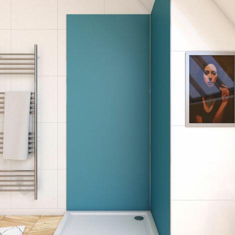 Panneau mural de douche BLEU en aluminium - 90 x 210 cm - WALL\'IT BLEU 90